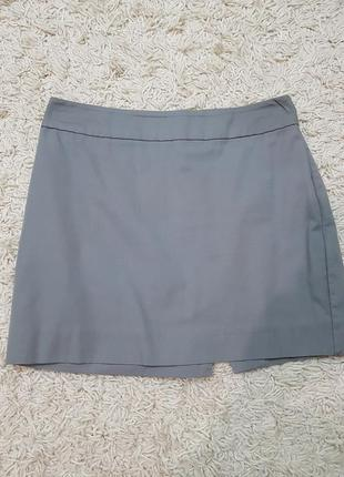 Базовая юбка oodji, мини юбка, серая юбка