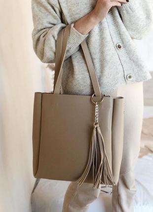 Комплект из двух сумок: большая сумка - шоппер и клатч - косме...