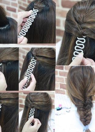 Заколка для волос, заколка для создания колоска, косички