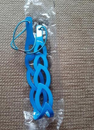 Повязка на голову голубого цвета avon, заколка для волос
