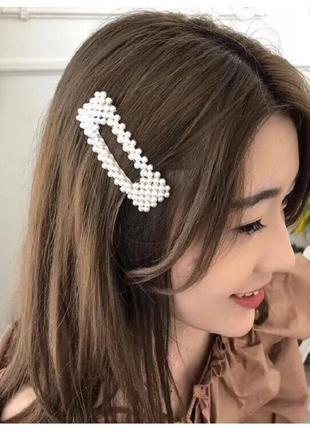 Хит 2019, тренд 2019 заколки для волос, заколки с жемчугом