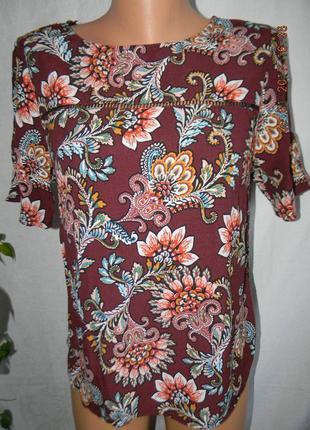 Вискозная блуза с принтом f&f