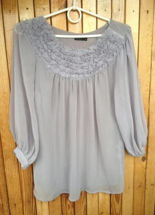 Шифоновая блуза vero moda очень нежного цвета