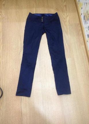 Темно-синие брюки для офиса 40 размер