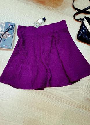 Юбка мини h&m, короткая юбка - клеш