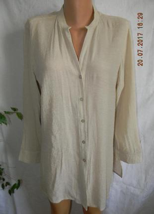 Вискозная новая блуза-рубашка