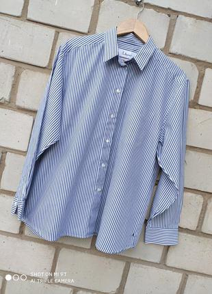 Коттоновая рубашка в полоску раз.2-3xl