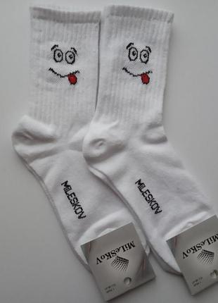 Носки с прикольным смайлами