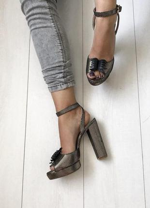 Босоножки maloles испания кожа ручная работа удобный каблук