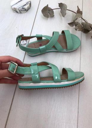Детские босоножки сандали для деовки мятного цвета 29 р кожа n...