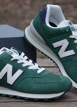 Оригинал new balance! кроссовки мужские зелёные 574 модель ml...