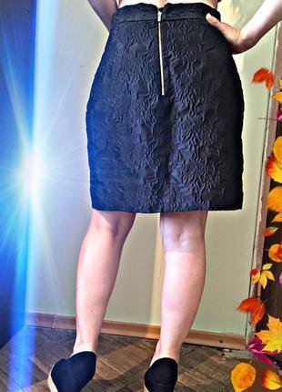 Стильная юбка с карманами от h&m (s-м)