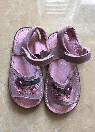 Детские розовые сандалкики для девочки кожа 27 р