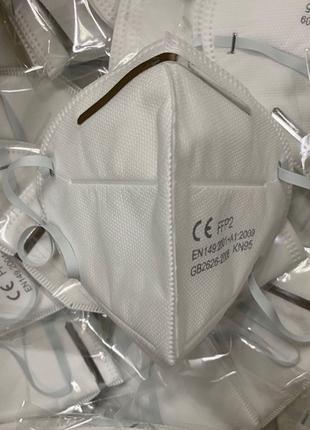 Респиратор маска KN95 ffp2 без клапана сертифицированная