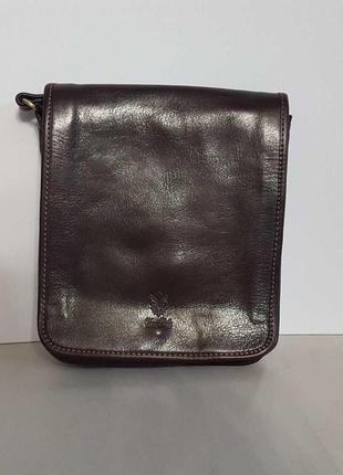 Мужская сумка кожа италия через плечо