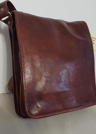 Мужская сумка кожа италия класса люкс гладкая кожа vera pelle