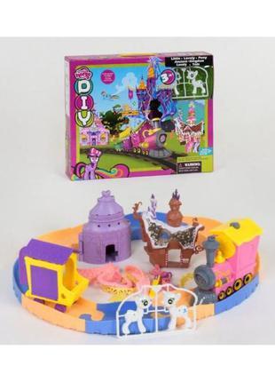 Игровой набор Замок пони c железной дорогой my little pony