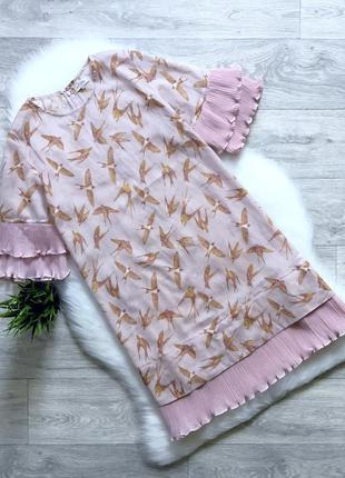 Платье с отделкой из плиссировки (пляжная туника)