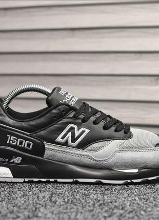 New balance 1500🔺 мужские кроссовки нью беланс серый/черный