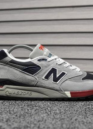 New balance 998🔺 мужские кроссовки нью беланс серый