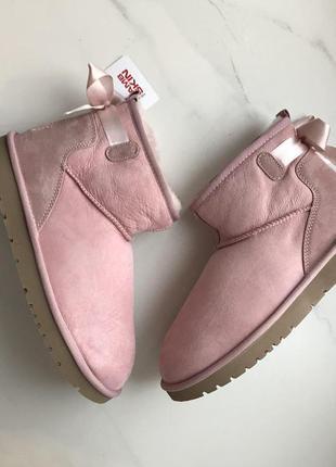 39 р угги tamaris розовые пудровые нубук и цигейка супер теплы...