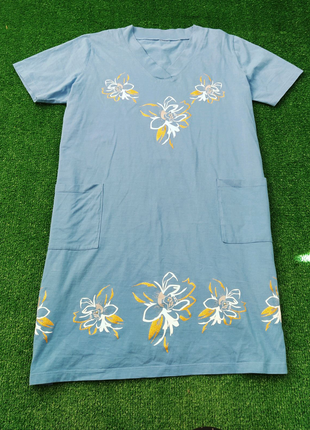Летнее натуральное платье большого размера батал. туника