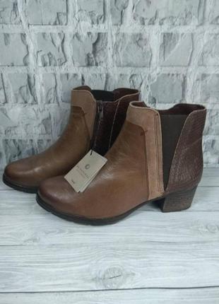 Ботиночки на удобном каблуке 38,5 и 40 р кожа be natural