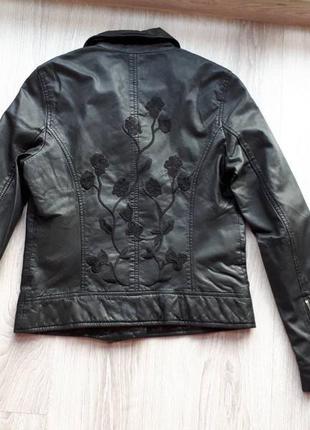 Новая куртка косуха с вышивкой one more story, германия 100% кожа