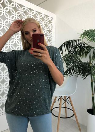 Весенний свитер-звезды размеры Plus size