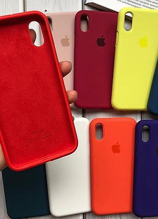 Силиконовый чехол для iPhone с закрытым низом Full cover silicone