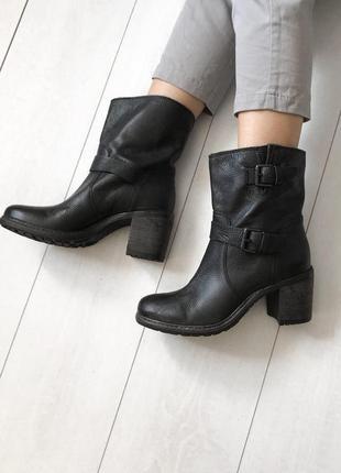 39 ботинки minelli на удобном каблуке кожа деми