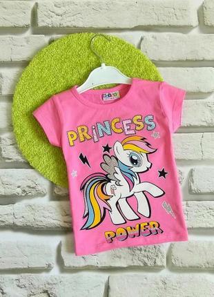 Футболки с пони princess для девочек 1-2 года. турция