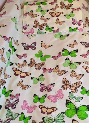 Простыня из пакистанской бязи gold - весенние бабочки, все раз...