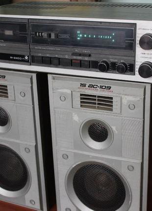 Стерео кассетный магнитофон Маяк М-240 С-1 с двумя стерео коло...