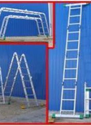 Раскладная стремянка 6метров лестница-трансформер KRAFT (4х4) ...