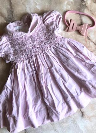 Платье вельветовое с подюпником