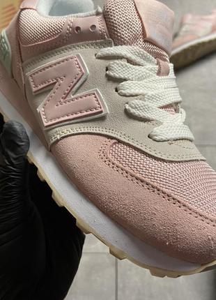 Натуральные кроссовки pink suede.