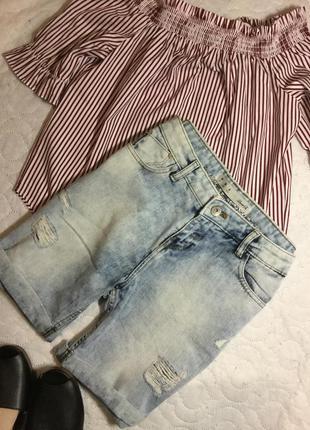 Шорты джинсовые бойфренд  denim co размер 10
