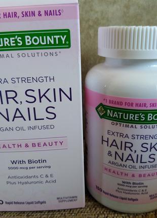 "Витамины ""Волосы, кожа, ногти"", Nature's Bounty, 150 таблеток"