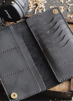 Кожаный мужской женский кошелек портмоне ручная работа