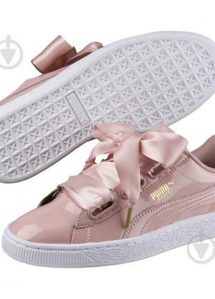 Оригинальные женские кроссовки PUMA BASKET HEART PANTENT
