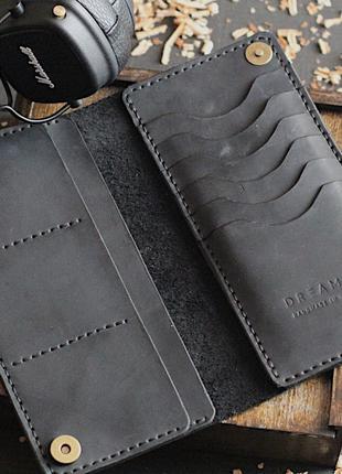 Кожаный мужской женский кошелек портмоне ручная работа.