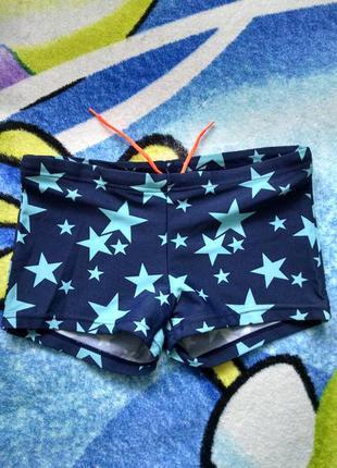 Плавки,шорты купальные в звездочки для мальчика 6-8 лет