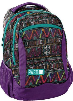 Рюкзак женский городской с орнаментом PASO 22L, 18-2808CP