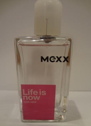Mexx life is now for her туалетная вода 30 ml тестер оригинал