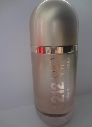 Carolina herrera 212 vip rose 80 ml парфюмированная вода тестер