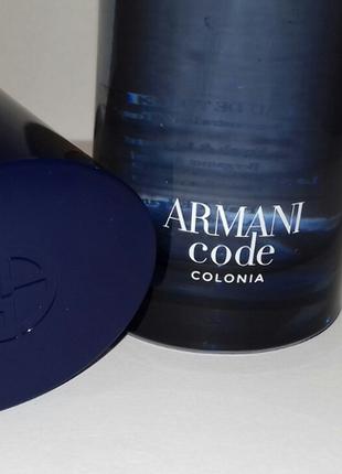 Giorgio armani code colonia 75 мл тестер