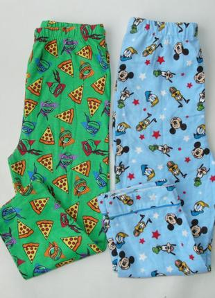 Пижама набор 2 шт пижамные штаны байка+ трикотаж primark англи...