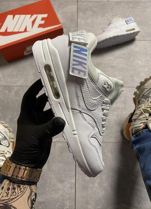 Мужские кроссовки nike air max 1 wmns triple white 😍