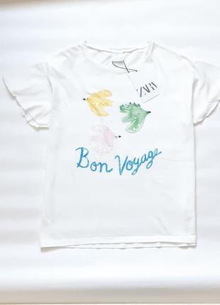 Нежная футболка zara
